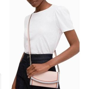 KateSpade Eva Embroidered Wallet On a Chain